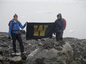 Maddie Happ and Kaitlin Starr at Columbia Glacier in the Summer of 2014