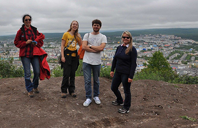 Members of the 2014 Kamchatka research group and host Tatiana